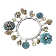 Mixit™ Beaded Patina Charm Stretch Bracelet