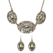 Liz Claiborne® Marcasite Necklace and Earring Set