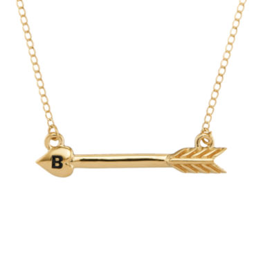 jcpenney.com | Personalized 14K Yellow Gold Initial Arrow Necklace