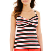 Pure Paradise Striped Twist Tankini Swim Top