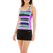 ZeroXposur® Striped Tankini Swim Top or Knit Board Shorts
