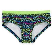 Total Girl® Leopard Hipster Panties - Girls 4-16