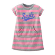 Carter's® Short-Sleeve French Terry Nightshirt - Girls 2-7
