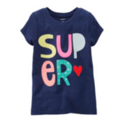 Carter's® Short-Sleeve Super Tee – Girls 6-24m