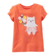 Carter's® Short-Sleeve Bear Tee - Girls 6-24m