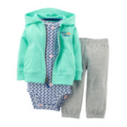 Carter's® 3-pc. Hoodie, Bodysuit and Pants Set - Boys newborn-24m