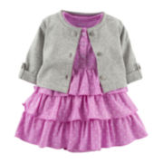 Carter's® 2-pc. Cardigan Dress Set - Girls newborn-24m