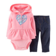 Carter's® 3-pc. Hoodie, Bodysuit and Jeggings Set - Girls newborn-24m