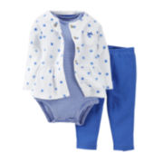 Carter's® 3-pc. Cardigan, Bodysuit and Pants Set - Girls newborn-24m