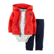 Carter's® 3-pc. Hoodie, Bodysuit and Pants Set - Boys newborn-24m