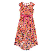 Speechless® High-Low Coral Floral Maxi Dress — Girls 7-16