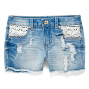 ZCO Crochet-Pocket Shorts – Girls 7-16