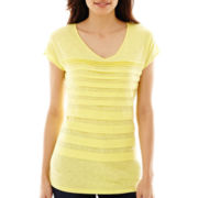 Liz Claiborne® Short-Sleeve Tiered T-Shirt - Tall