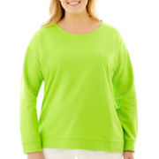 Liz Claiborne® Long-Sleeve Sweatshirt - Plus