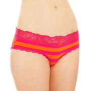 Flirtitude® Lace-Back Hipster Panties