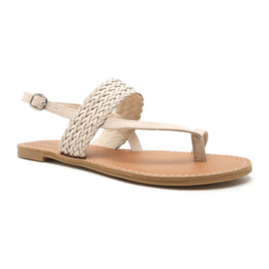 jcpenney.com | Qupid Athena Braided Flat Sandals