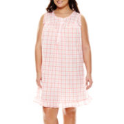 Adonna® Sleeveless Short Nightgown - Plus