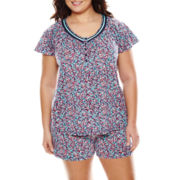 Earth Angels® Shirt and Shorts Pajama Set - Plus