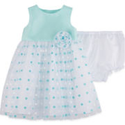Marmellata Sleeveless Dot Print Ballerina Dress - Baby Girls 3m-24m