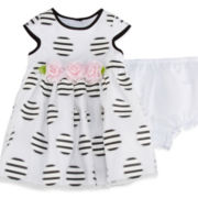Marmellata Cap Sleeve Print Ballerina Dress - Baby Girls 3m-24m