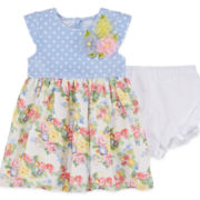 Marmelatta Sleeveless Floral-Print Dress - Baby Girls 3m-24m