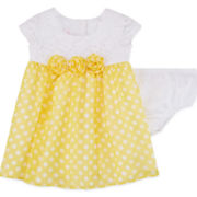 Little Lass® Sleeveless Dot Print Dress - Baby Girls newborn-24m