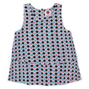 Total Girl® Woven Tank Top - Girls 7-16