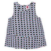 Total Girl® Woven Tank Top - Girls 7-16