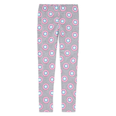 jcpenney.com | Marvel® Captain America Shield Leggings - Girls 7-16
