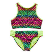 Angel Beach 2-pc. Aztec Print Swimsuit - Girls 7-16