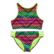 Angel Beach 2-pc. Aztec Print Swimsuit - Girls 7-16