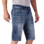 Seven7® Knit Denim Jogger Shorts