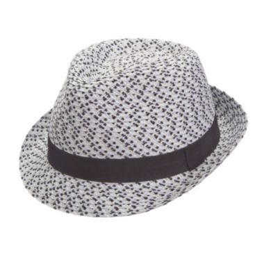 jcpenney.com | Arizona Straw Fedora with Black Trim