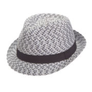 Arizona Straw Fedora with Black Trim