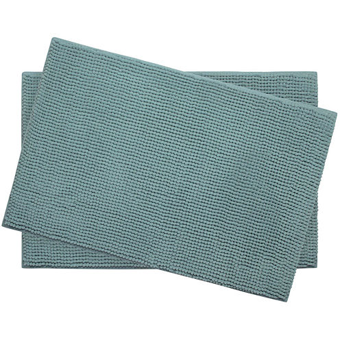 "Bounce Comfort Plush Memory Foam Chenille 17x24"" 2-pc. Bath Mat Set"