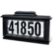 Solar-Powered Lighted Address Stake