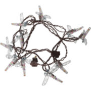 Metal Dragonfly Indoor/Outdoor String Light Set