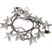 Metal Star Indoor/Outdoor String Light Set