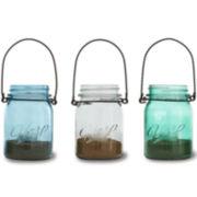 3-pc. Hanging Mason Jars With Tealights