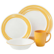 Corelle® Boutique™ Brushed-Yellow 16-pc. Round Dinnerware Set