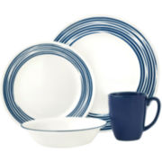 Corelle® Boutique™ Brushed Cobalt 16-pc. Round Dinnerware Set