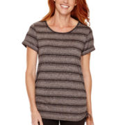 Made for Life™ Short-Sleeve Shirred-Side Tunic - Tall