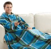 As Seen on TV Snuggie® Blue Plaid Fleece Blanket