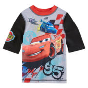 Disney Collection Cars Rash Guard Swimwear Top - Boys 2-10