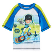 Disney Collection Miles Rash Guard Swimwear Top - Boys 2-10