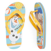 Disney Collection Olaf Flip Flops - Boys