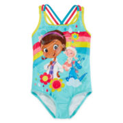 Disney Collection Doc McStuffins One-Piece Swimsuit - Girls 2-8