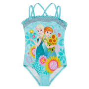 Disney Collection Frozen 1-pc. Swimsuit - Girls