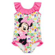 Disney Collection Pink Minnie Mouse 1-pc. Swimsuit - Girls 2-10