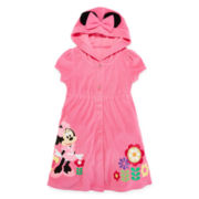 Disney Collection Pink Minnie Mouse Swim Cover Up - Girls 2-8